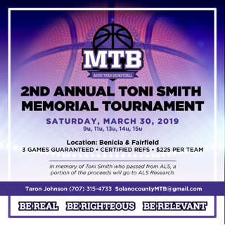 2nd Annual Toni Smith Memorial Tournament