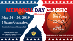 Memorial Day Classic-Qualifier (4 Game Guarantee)