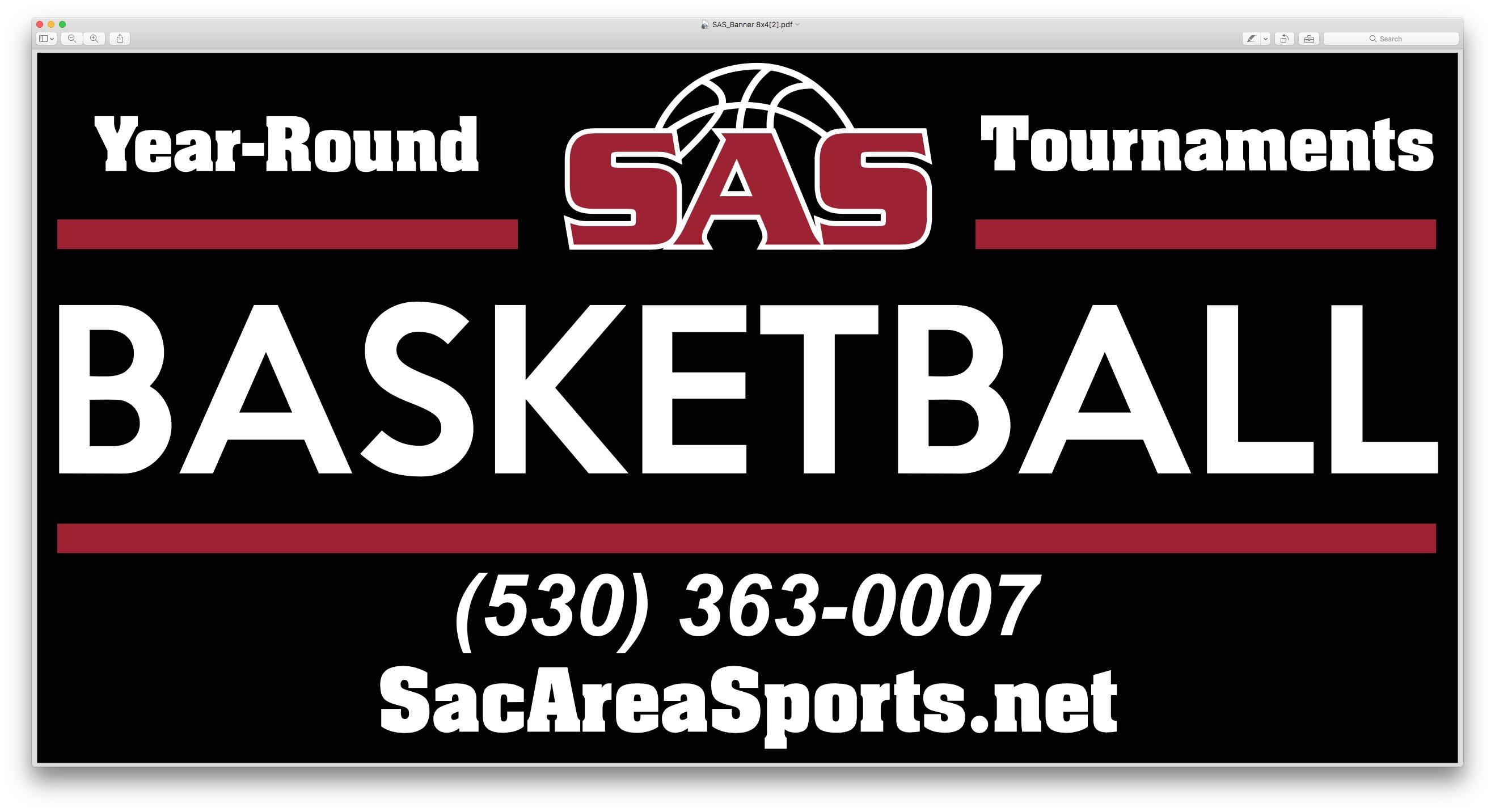 SAS Saturday Basketball Tournaments $150 per Team