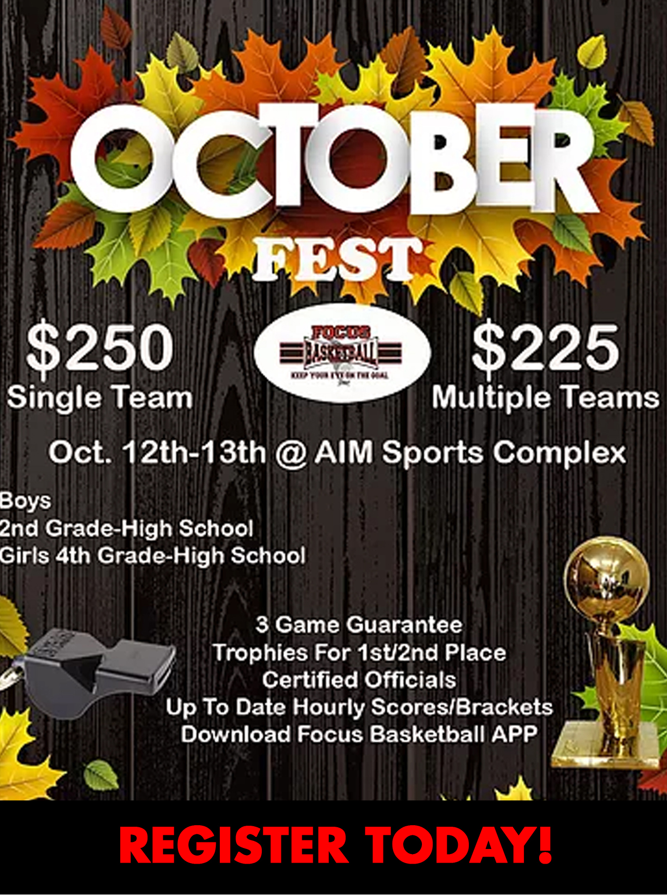 October Fest Tournament 🍂🏀🏆
