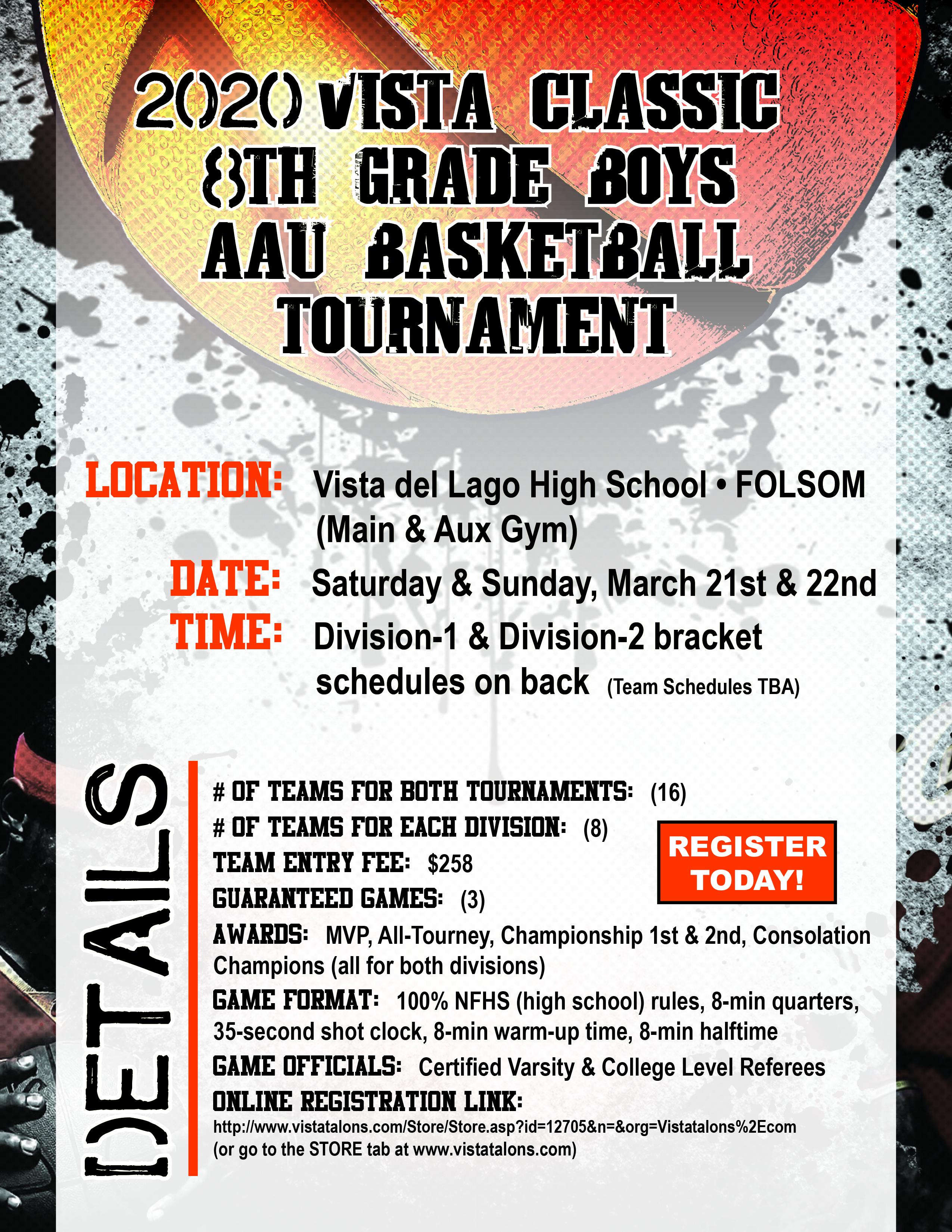 2020 Vista Classic 8th Grade Boys AAU Basketball Tournament