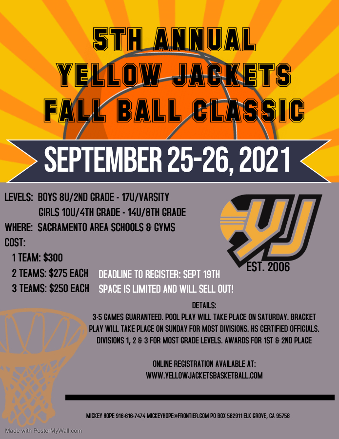 5th Annual Yellow Jackets Fall Ball Classic
